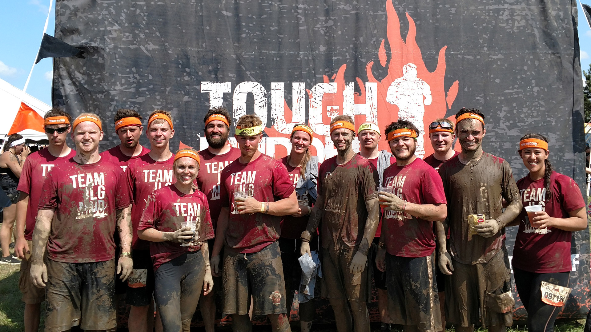 JLG participants of the tough mudder race